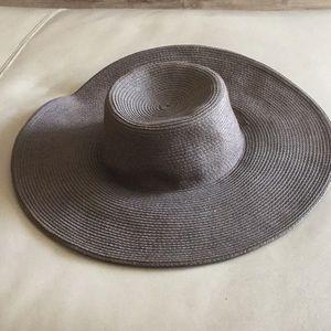 Jcrew floppy chocolate brown hat